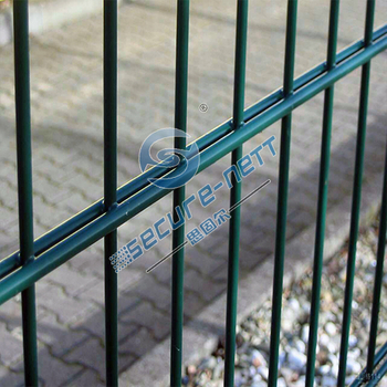 Double wire PVC coated welded wire mesh fence