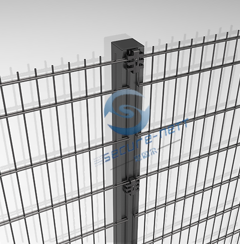 galvanized double horizontal wire mesh fence panel