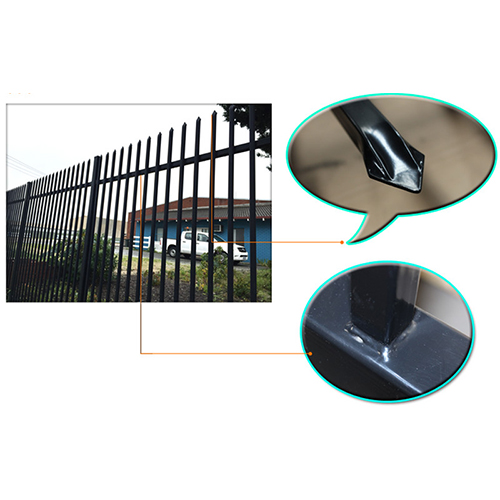 Press formed spear security fencing