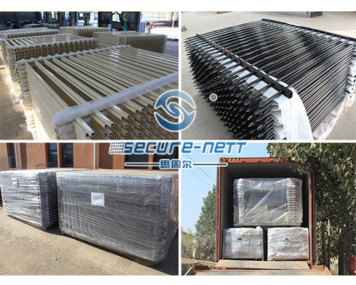 Galvanized steel fence with double extension arms exporter