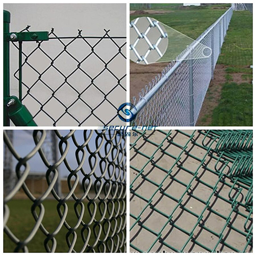 electroplated galvanized chain link fence
