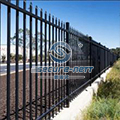 Galvanized Steel Anti-intruder Fences With Double Extension Arms