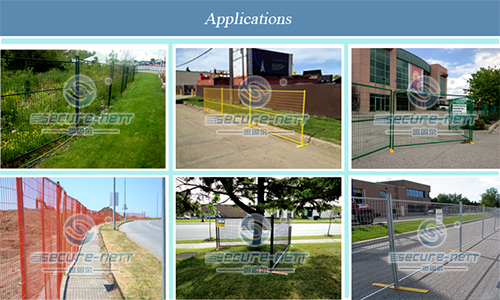 Movable Canada temporary fence