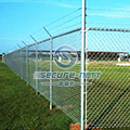 Pvc coated chain link fence for hillside